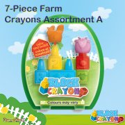 Block Crayon 7-Piece Farm Crayons Assortment - Pack A