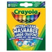 Crayola 8 Large Ultra Clean Washable Large Crayons