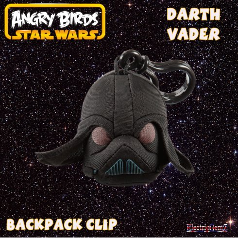 Angry Birds Star Wars Backpack Clip - Darth Vader