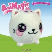 Animagic 9cm Medium Squeezamals - Callie the White Cat