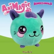 Animagic 9cm Medium Squeezamals - Cassie the Teal Cat