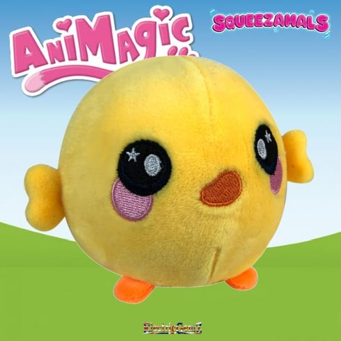 Animagic 9cm Medium Squeezamals - Dakota the Duck