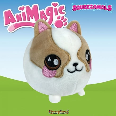 Animagic 9cm Medium Squeezamals - Dax the Corgi