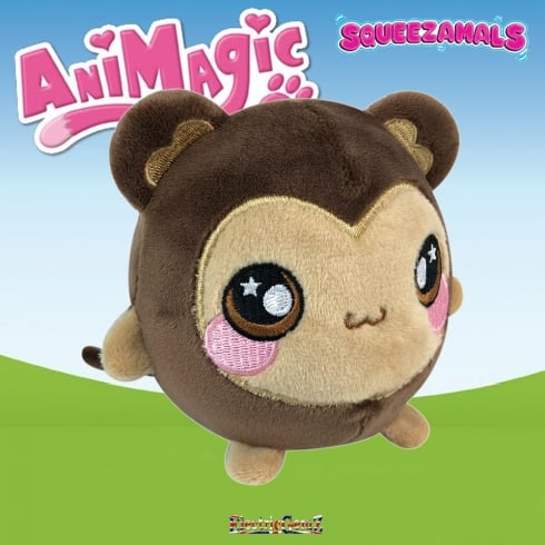 Animagic 9cm Medium Squeezamals - Mila the Monkey