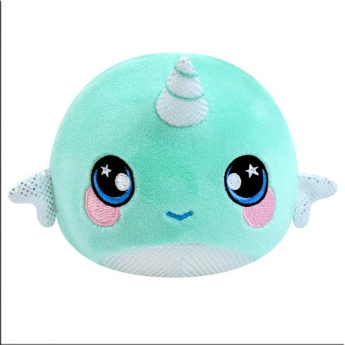 Animagic 9cm Medium Squeezamals Series 3 - Joy the Narwhal