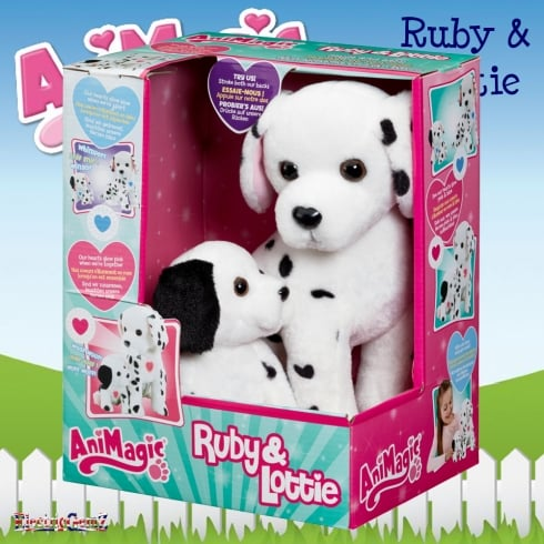 AniMagic Ruby and Lottie Dalmatian Dog and Puppy Soft Toy