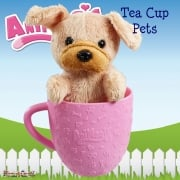 AniMagic Tea Cup Pets - Brown Pug Puppy Plush