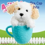 AniMagic Tea Cup Pets - White Puppy Plush