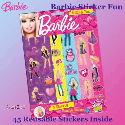 Barbie Sticker Fun with 45 Reusable Stickers