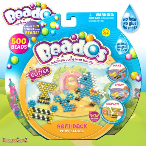 Beados 500 Piece Theme Pack Refill - Pony Stables