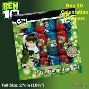 Ben 10 6 Full Size Celebration Crackers