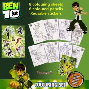 Ben 10 Colouring Set with Coloured Pencils & Stickers