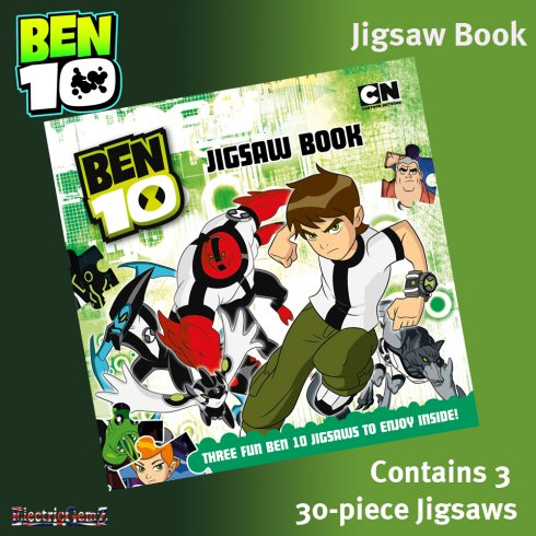 Ben 10 Jigsaw Book with 3 30-Piece Jigsaws