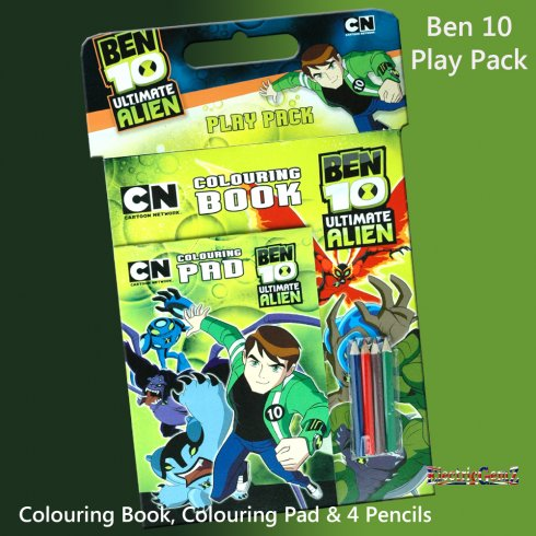 Ben 10 Play Pack with Coloured Pencils