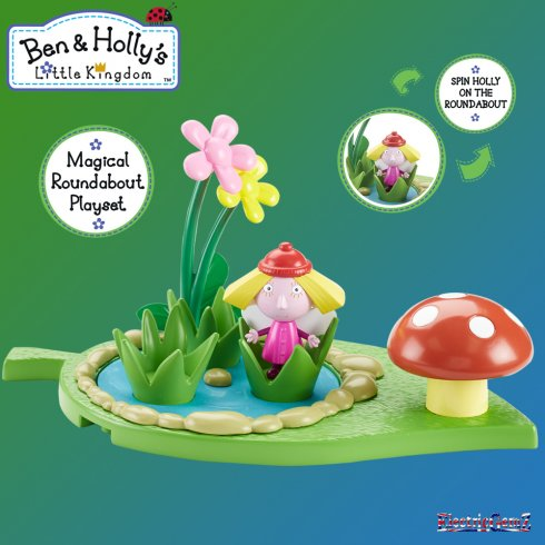 Ben & Holly's Little Kingdom Magical Playground Playset - Roundabout with Holly