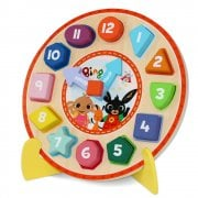Bing Wooden Puzzle Clock with Stand