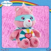 Care Bears 8in Bean Bag Superheroes - Hopeful Heart Bear
