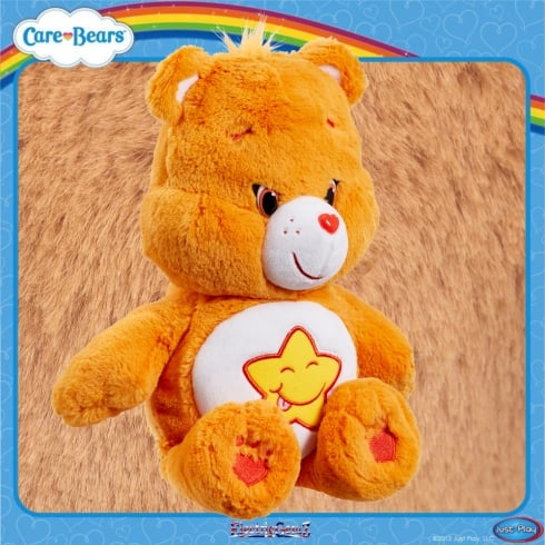 Care Bears Medium 14in Plush - Laugh-a-Lot Bear - with Bonus DVD