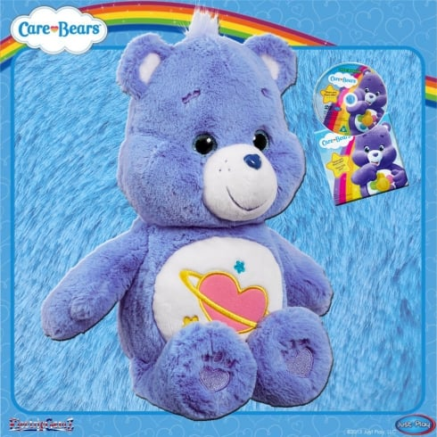 Care Bears Medium Plush with DVD Daydream Bear