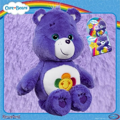 Care Bears Medium Plush with DVD Harmony Bear