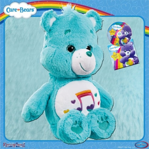Care Bears Medium Plush with DVD Heartsong Bear