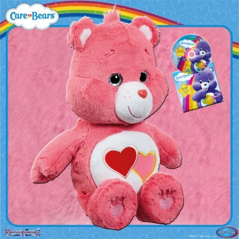 Care Bears Medium Plush with DVD Love-a-Lot Bear