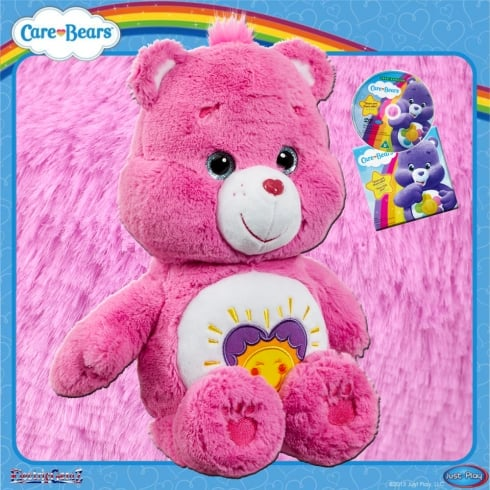 Care Bears Medium Plush with DVD Shine Bright Bear