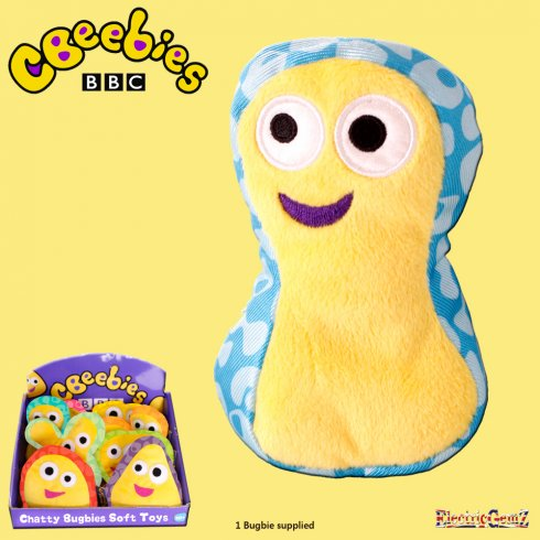 CBeebies Chatty Bugbies Fun Sounds 12cm Soft Toy - Fobble