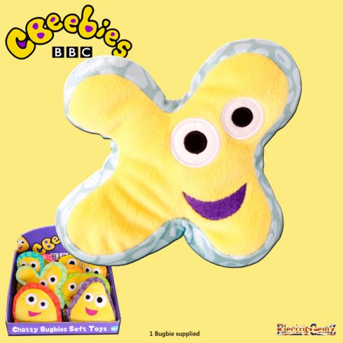 CBeebies Chatty Bugbies Fun Sounds 12cm Soft Toy - Twirly