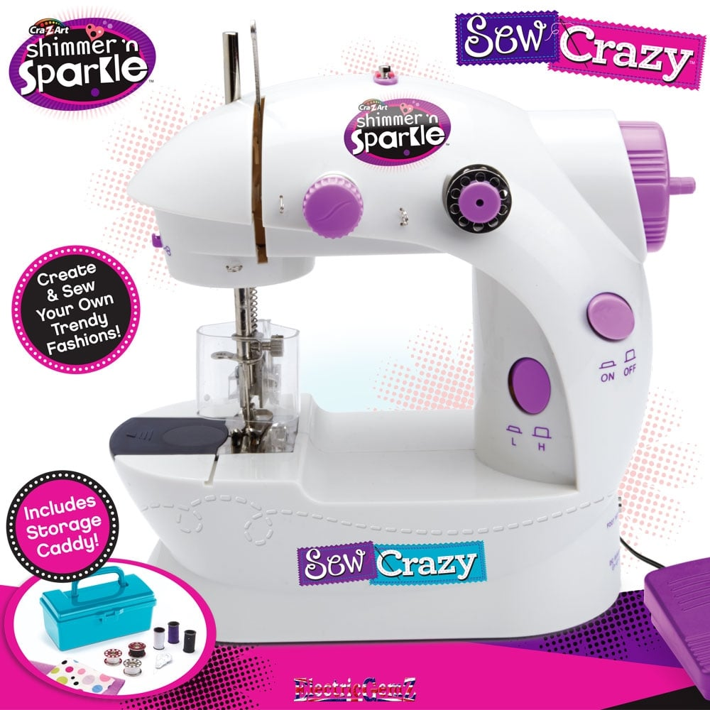 Cra z art shimmer n sparkle sew crazy sewing machine for Arts and crafts sewing machine