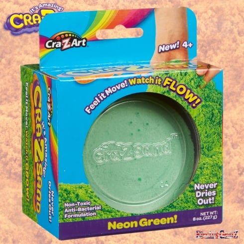 Cra-Z-Sand 8oz One Colour Pack - Neon Green!
