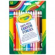 Crayola 12 Easy Peel Crayon Pencils