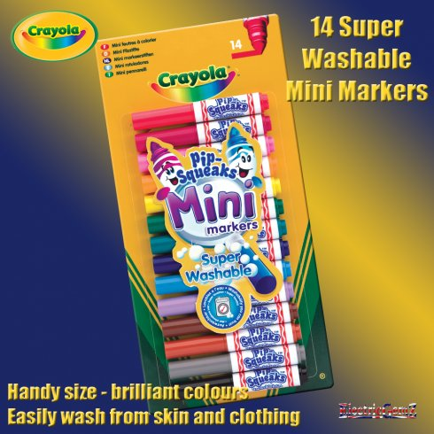 Crayola 14 Pip-Squeaks Mini Markers