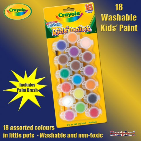 Crayola 18 Washable Kids Paints