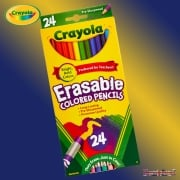 Crayola 24 Erasable Coloured Pencils