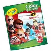 Crayola 32-Page Incredibles 2 Colouring Book with Stickers