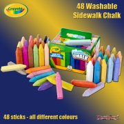 Crayola 48 Washable Sidewalk Chalk