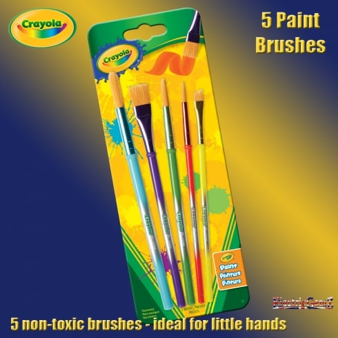 Crayola 5 Assorted Paint Brushes