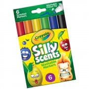 Crayola 6 Silly Scents Washable Chisel Tip Markers