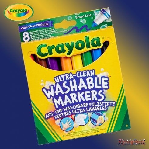 Crayola 8 Ultra-Clean Washable Broadline Markers