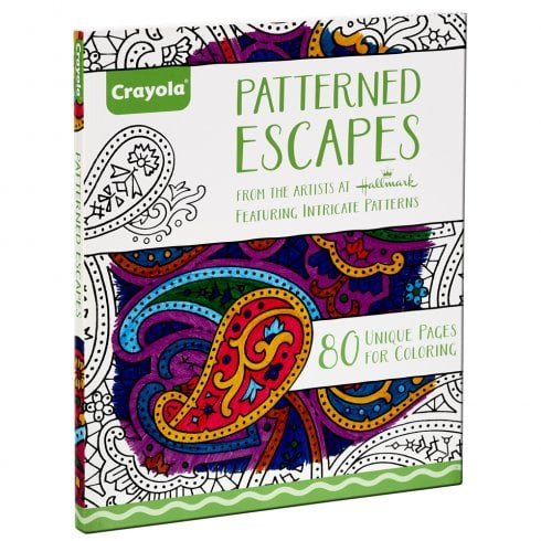 Crayola Adult Colouring 80 Page Patterned Escapes Colouring Book