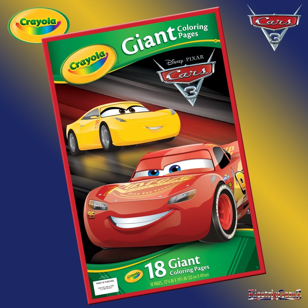 crayola cars 3 giant colouring pages