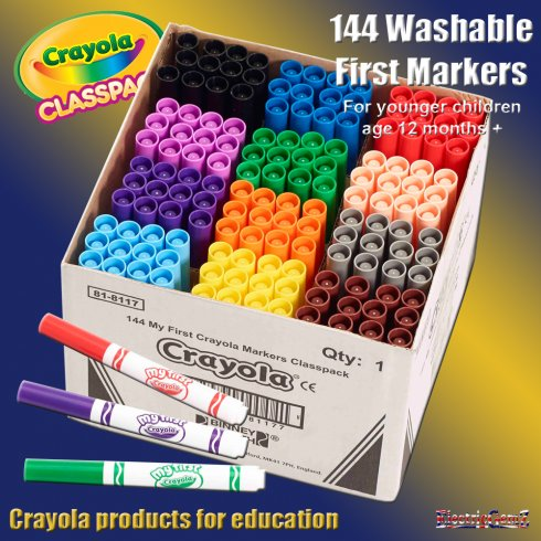 Crayola Class Pack 144 First Markers