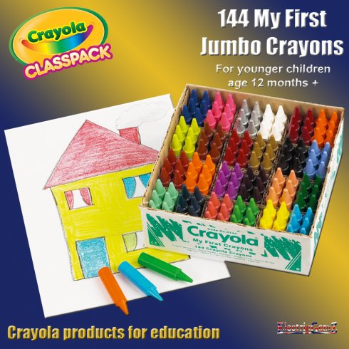 Crayola Class Pack 144 My First Jumbo Crayons