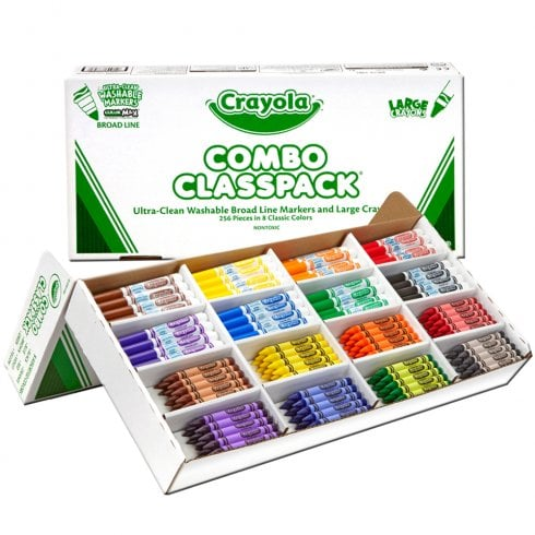 Crayola Class Pack 256 Washable Markers and Crayons Combo
