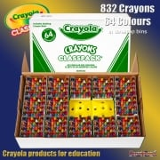 Crayola Class Pack 832 Crayons in 64 Colours