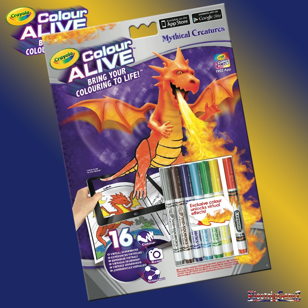 crayola color alive action coloring pages mythical creatures crayola colour alive mythical creatures