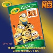 Crayola Despicable Me 3 Giant Colouring Pages