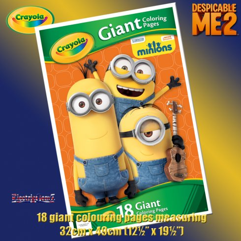 Crayola Disney Minions 18 Giant Colouring Pages