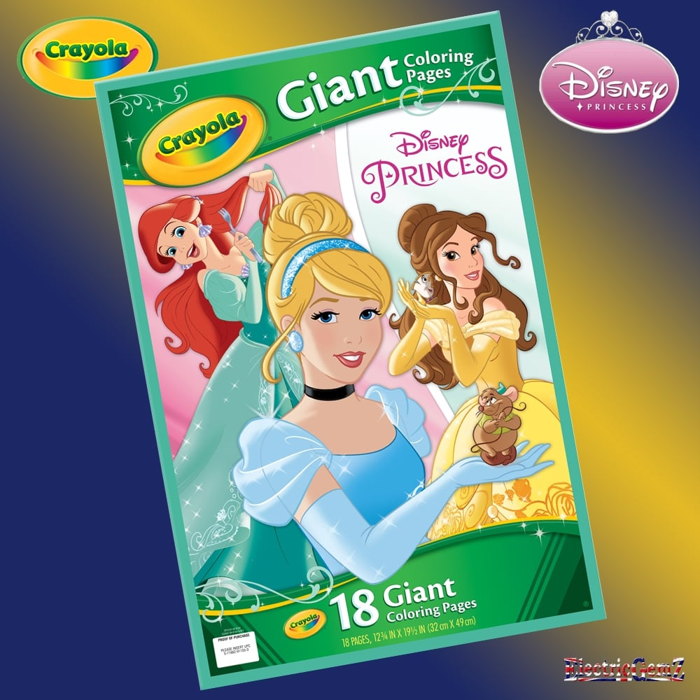Crayola Giant Coloring Pages Disney Princess : Crayola disney princess giant colouring pages